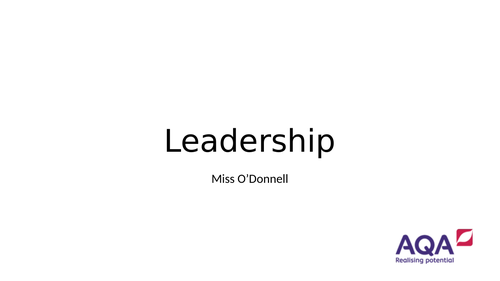 AQA A Level PE Chapter 5.1 Leadership