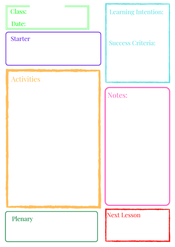 Basic Lesson Planner