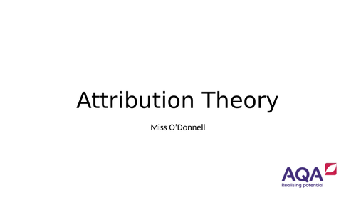 AQA A Level PE Chapter 5.1 Attribution Theory