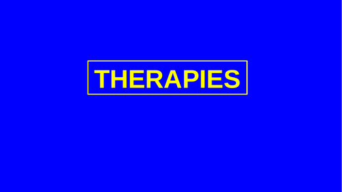 Well Being and Therapies