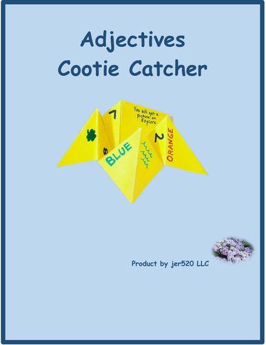 Adjectives Cootie Catcher