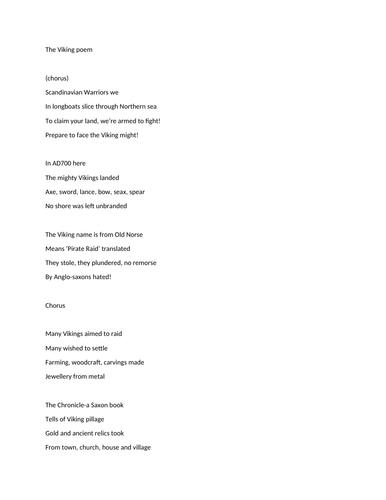 Vikings poem