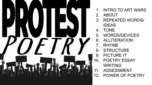 Protest Poetry SoW
