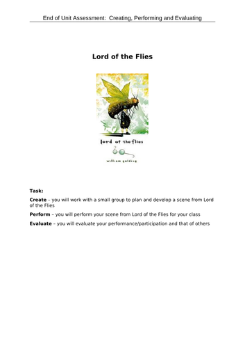 Mini- assessment: Lord  of the Flies