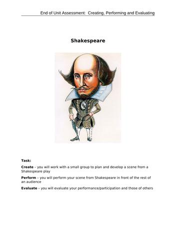 Mini-assessment: Shakespeare