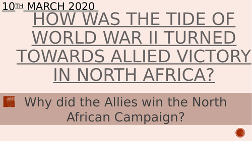 How did the Allies win the North African