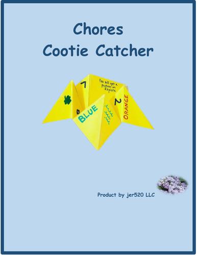 Chores Cootie Catcher