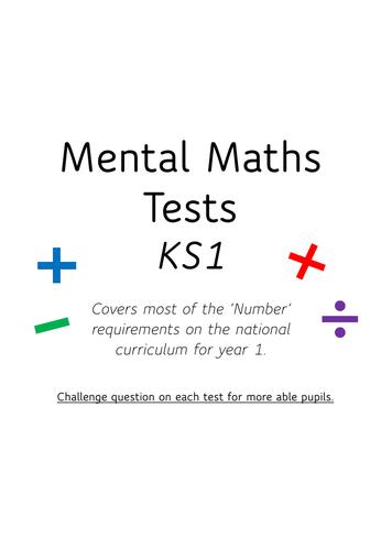 Year 1 (KS1) Mental Maths tests