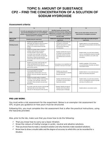 Edexcel A Level Chem - Core Practical 2
