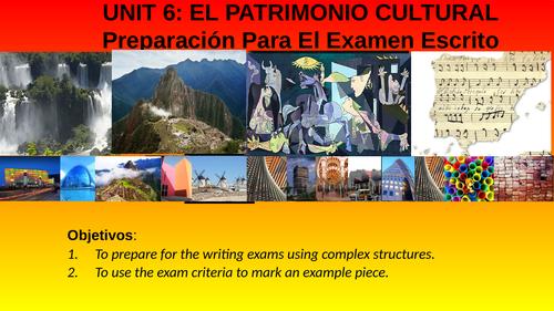 A LEVEL SPANISH WRITING EXAM PREPARATION