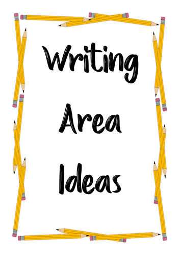 Writing Ideas Booklet