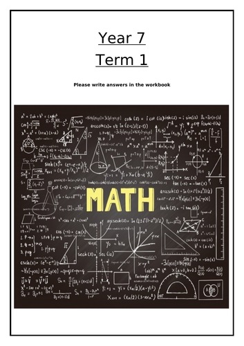 Year 7 Maths - Introduction to secondary school Maths