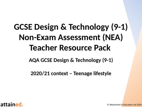 GCSE D&T (9-1) NEA Teacher Resource Pack (Teenage Lifestyle)