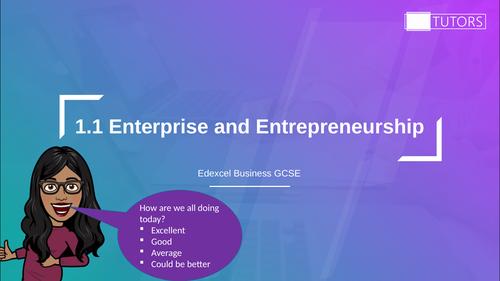 Enterprise and Entrepreneurship: GCSE Business