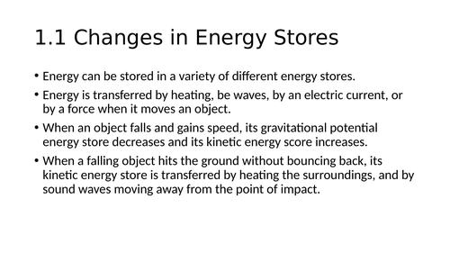 AQA Physics GCSE Summary Powerpoint