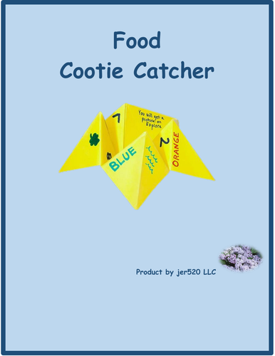 Food Cootie Catcher