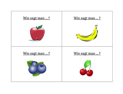 Essen (Food in German) Question Question Pass Activity