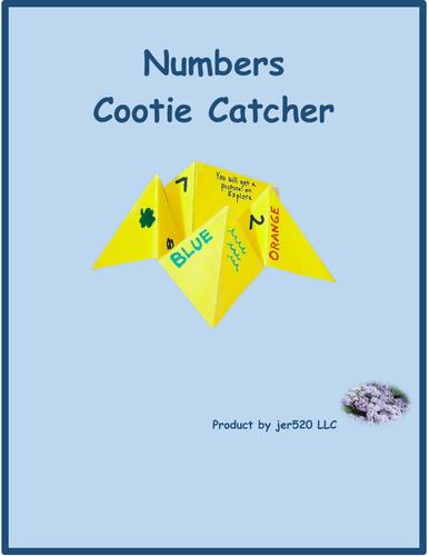 Numbers Cootie Catcher