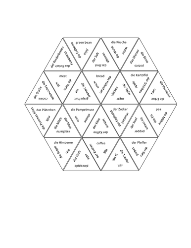 Essen (Food in German) Tarsia Puzzle