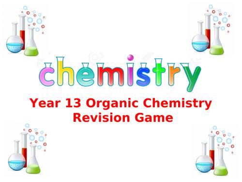 AQA A-level Chemistry Year 13 Organic Chemistry Jeopardy Game