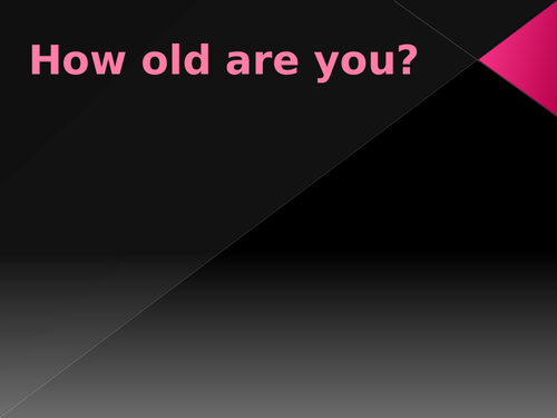 How old are you (Age in English) PowerPoint Distance Learning