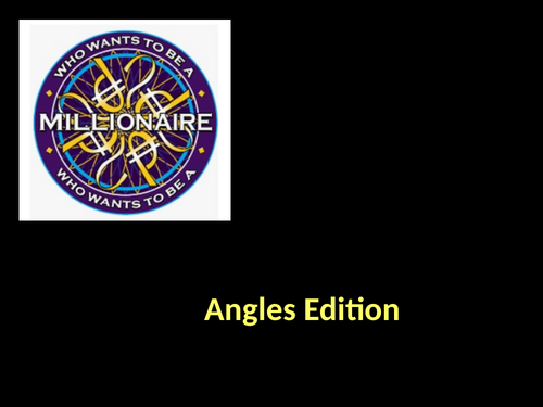 Who Wants To Be A Millionaire Fun Maths Game (Revision Resource)