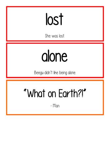 Beegu vocabulary