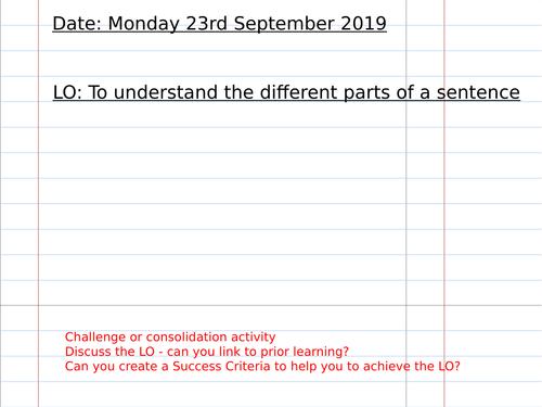 Building Sentences Lesson Plan Pack