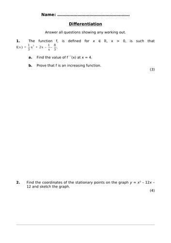 Pure Mathematics 2 Assessment Pack