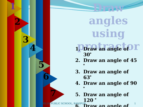 drawing angles using protractor