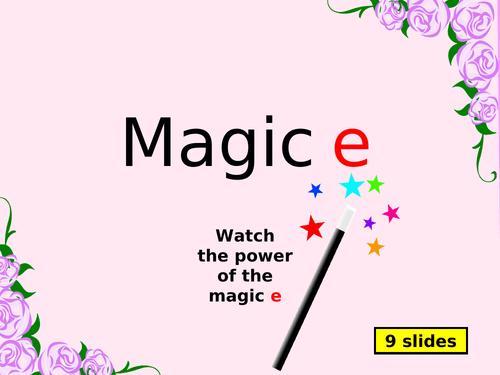 The Magic e - PowerPoint
