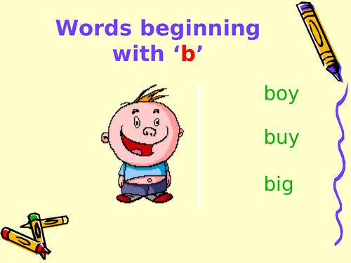 READING 'B' WORDS - POWERPOINT
