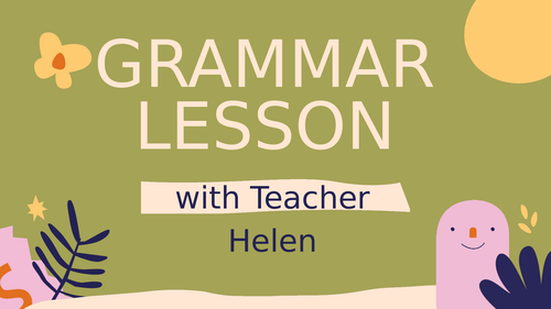 Grammar lesson-Plural of Nouns