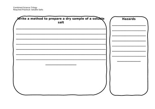 Combined Science Chemistry RP Worksheets