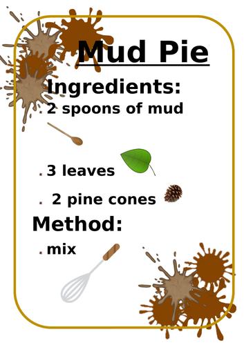 Mud kitchen recipe book