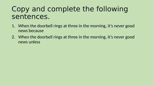UKS2 Sentence Work