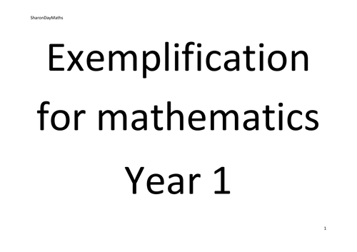 Y1 exemplification for mathematics