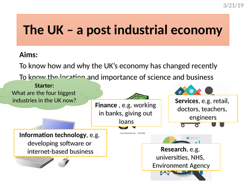 The UK's post industrial economy (science & business parks)
