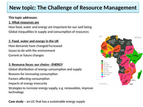 An introduction to resource management