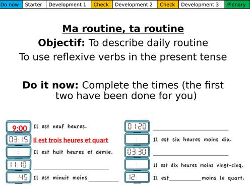 Ma routine, ta routine Dynamo 2 Module 4.4