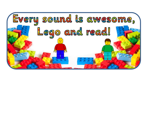Lego phonics sound display
