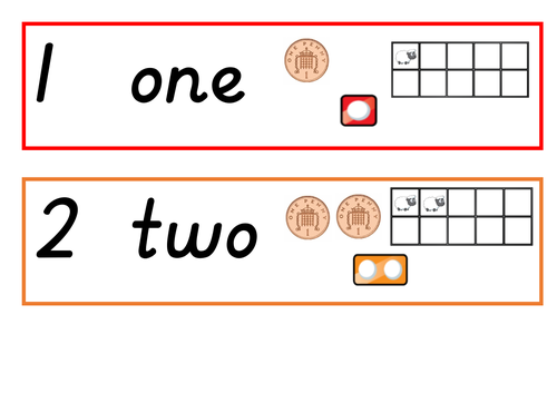 Numbers 1-20 with representations