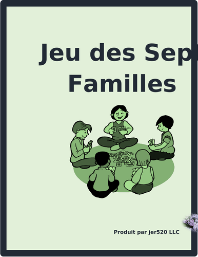 Pays (Countries in French) Jeu de Sept Familles