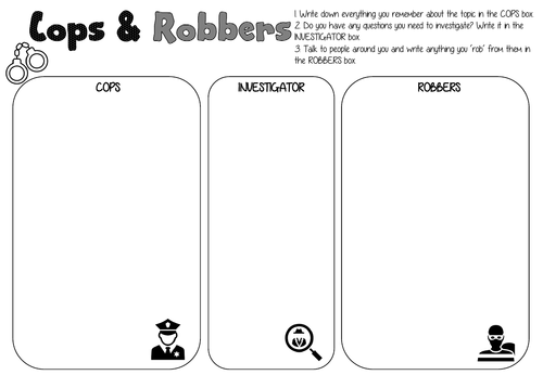 Cops and Robbers and Connect 4