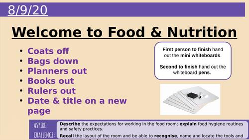 Y7 Lesson 1 Hazards in Food