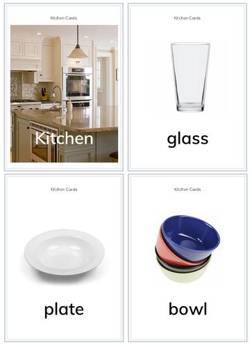 Kitchen Flashcards FOR PreK/K/G1 for PreK/K/G1