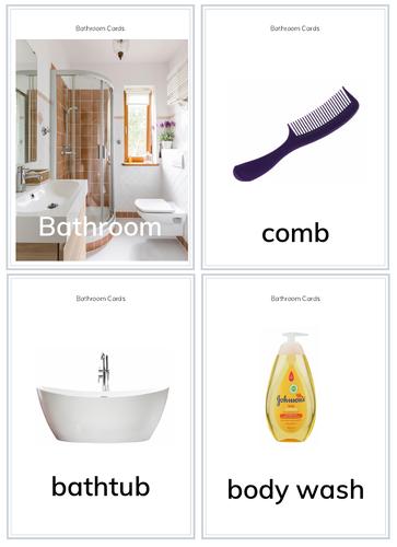 Bathroom Flashcards FOR PreK/K/G1 for PreK/K/G1