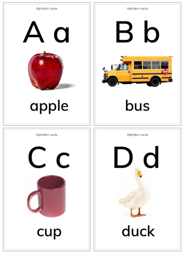 A-Z Alphabet Flashcards for PreK/K