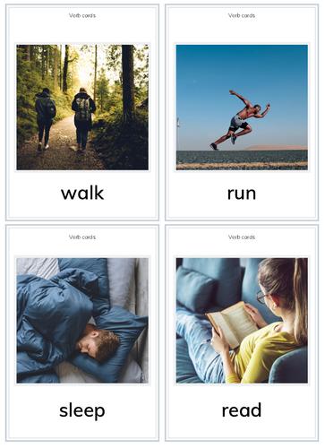 Verb Flashcards for PreK/K