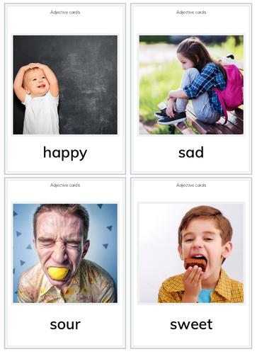Adjectives Flashcards for PreK/K